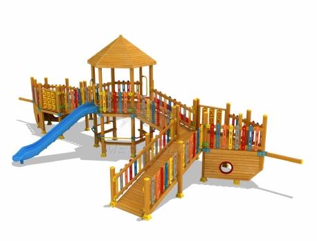 Ahşap Çocuk Parkları-Mas-118