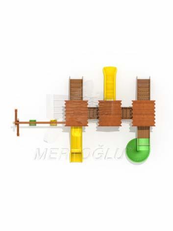 Ahşap Görünümlü Metal Oyun Grubu-Mag-606