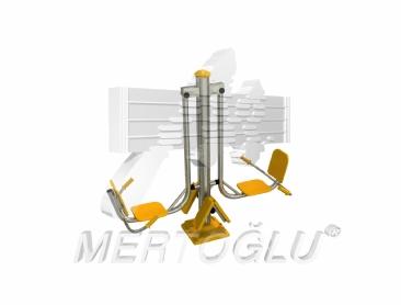 Tekli Fitness Aletleri-Mfs-001/Krom