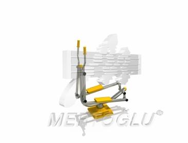 Tekli Fitness Aletleri-Mfs-002/Krom