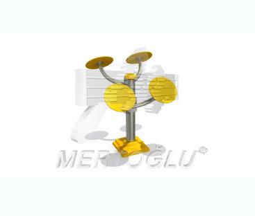 Tekli Fitness Aletleri-Mfs-006/Krom