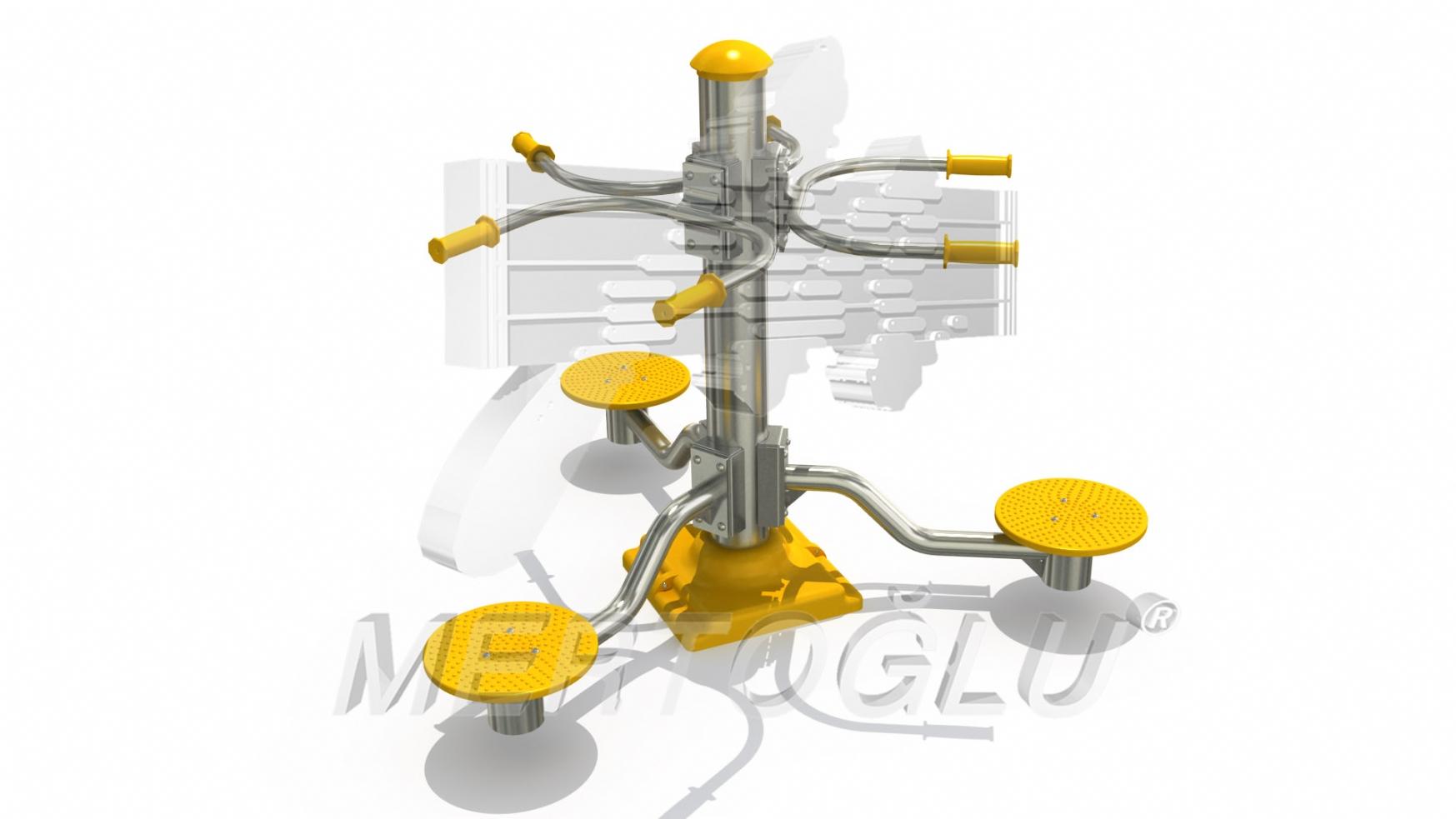 Tekli Fitness Aletleri-Mfs-003/Krom